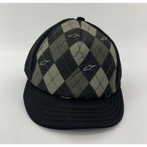 Alpinestars A-Flex Mens Trucker Hat Black Argyle
